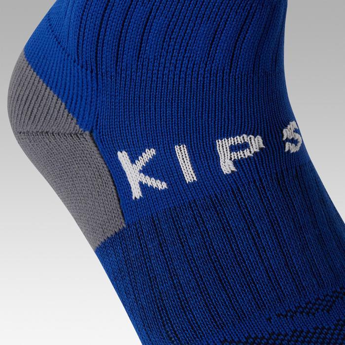 Chaussette de football rayée enfant F500 bleue