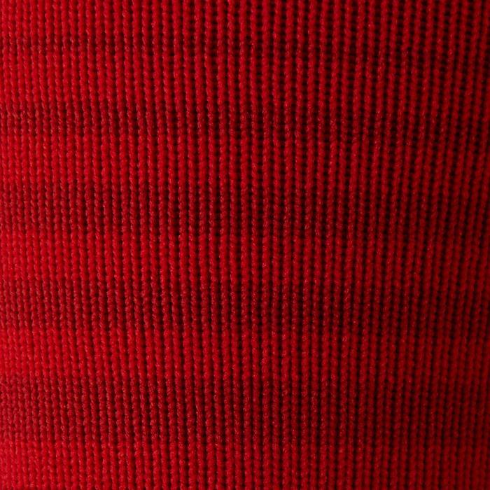 兒童款足球襪F500-紅色條紋