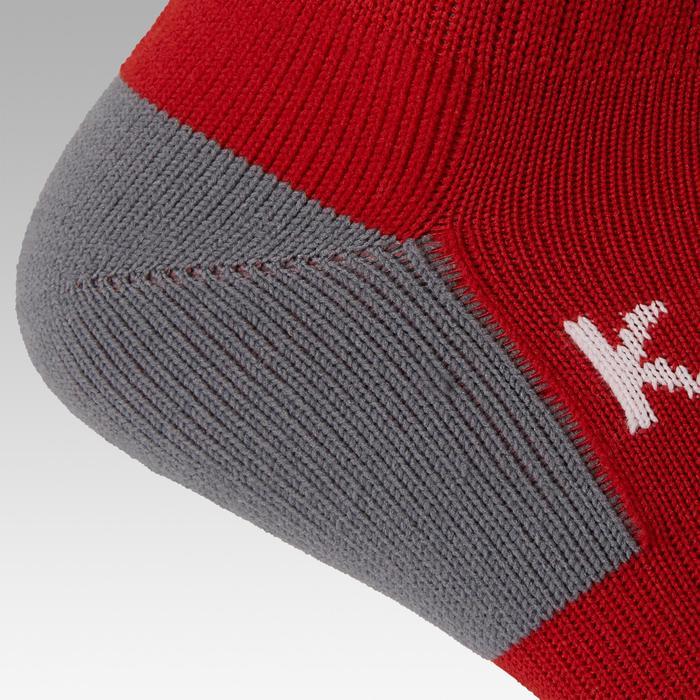 成人款足球運動襪F500 - 紅色