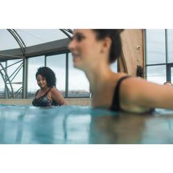 Maillot de bain une pièce femme gainant d'aquagym Karli Boo Noir Orange