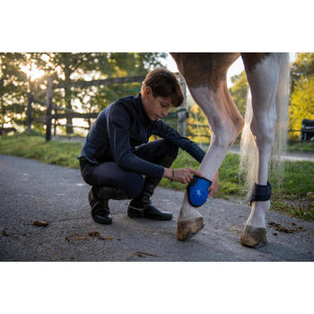 Streichkappen 500 Jump Pferd royalblau