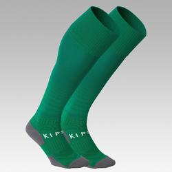 Chaussettes de football adulte F500 verte