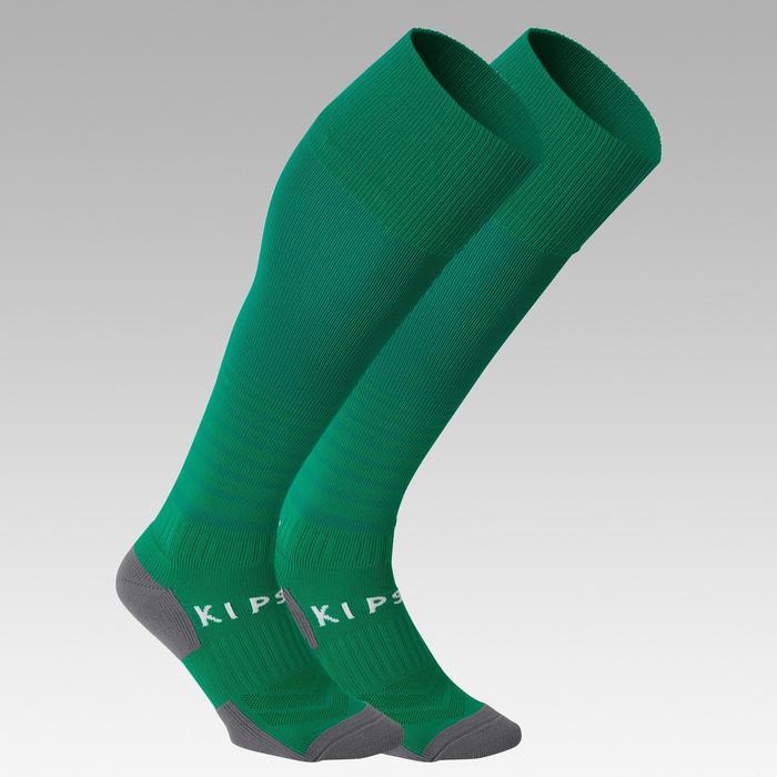 F500 Kids' Striped Football Socks - Green