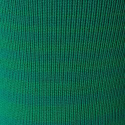 Medias de fútbol rayadas júnior F500 verde