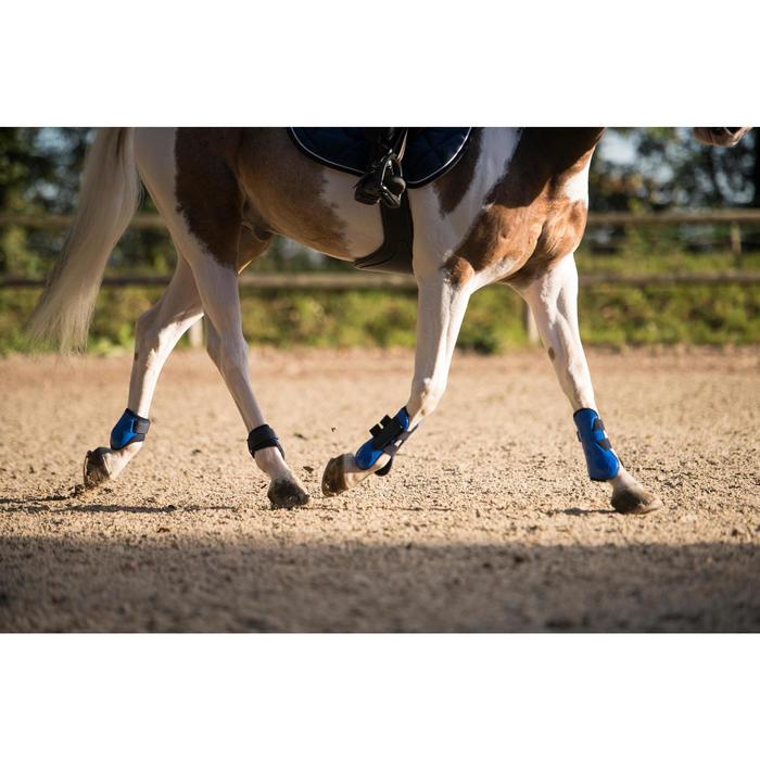Protectores Equitación Fouganza 500 Jump Caballo Azul Real Menudillo