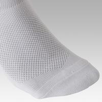 Chaussettes de football F100 blanc - Adultes