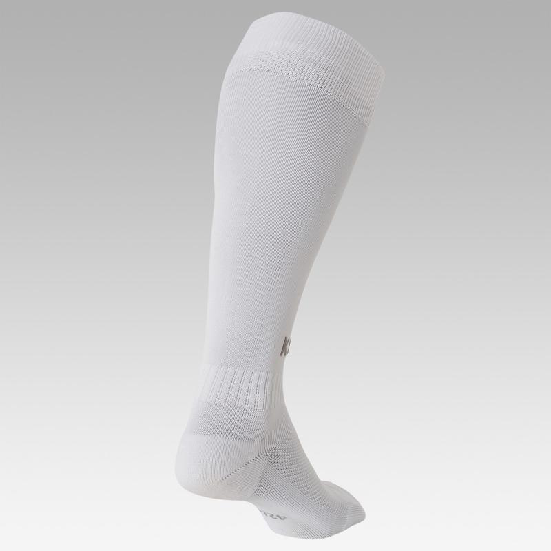 Calcetas de fútbol adulto F100 blancas