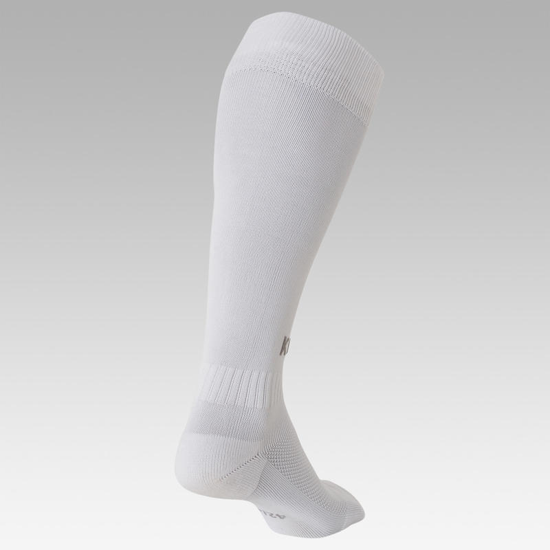 Chaussettes de football adulte F100 blanc