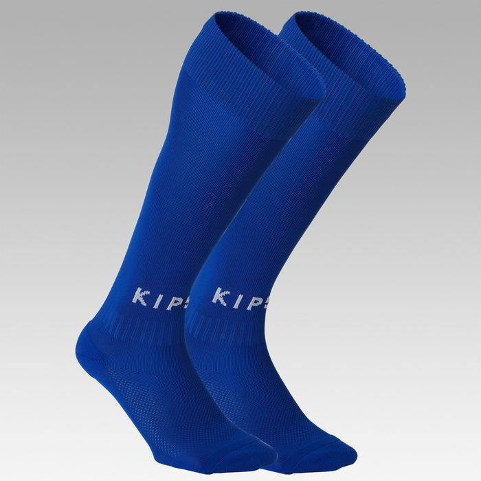Chaussette de football adulte F100 bleue