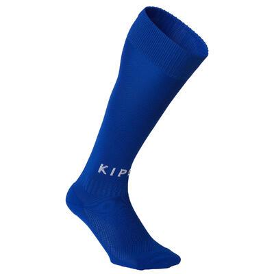 Chaussette de football enfant F100 bleue indigo