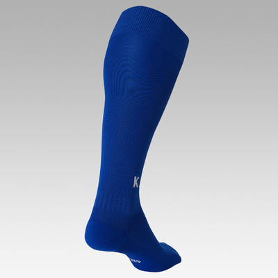 Chaussette de football adulte F100 bleue