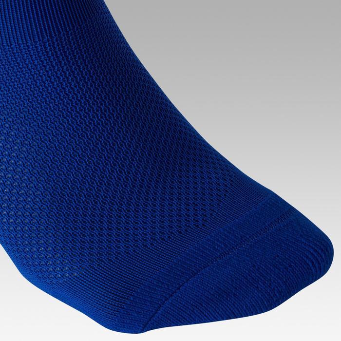 Chaussettes de football enfant F100 bleue indigo
