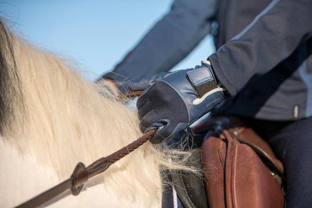 560 Kids' Horse Riding Gloves - Navy/Blue