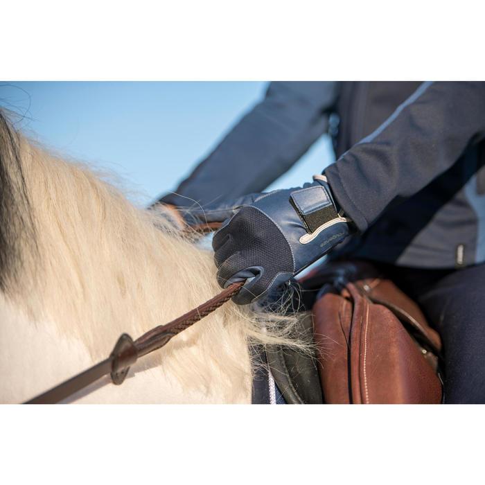 Gants équitation enfant 560 marine et bleu