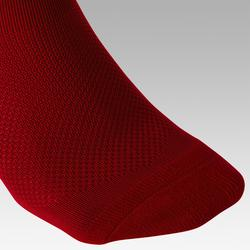 Chaussettes de football adulte F100 rouge