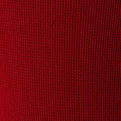 Meias de futebol F100 Adulto vermelho