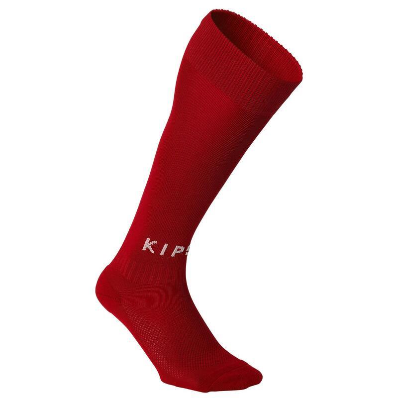 Chaussettes de football adulte F100 rouge