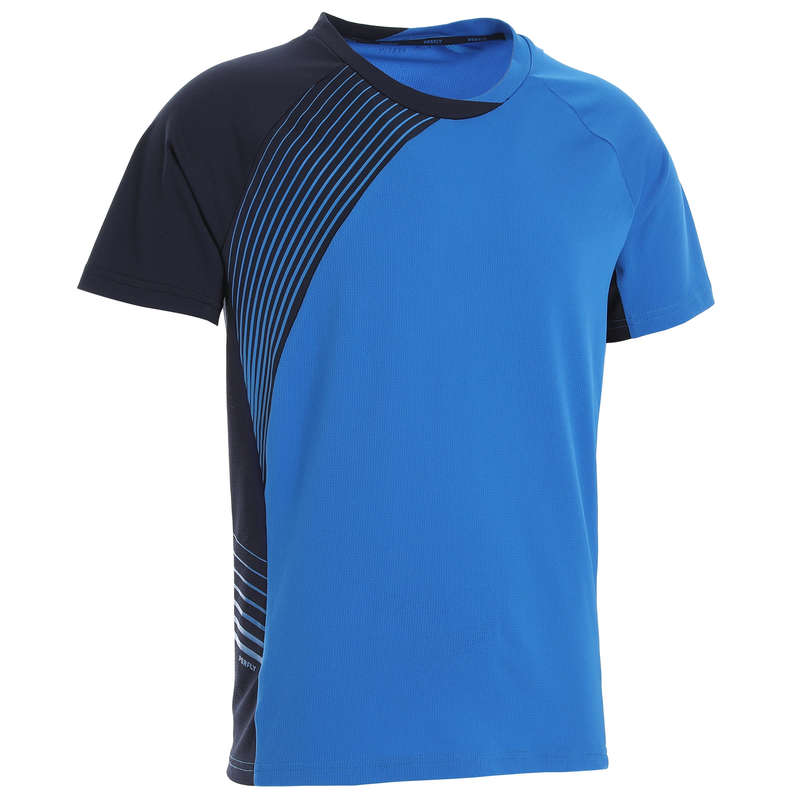 MEN'S INTERMEDIATE BADMINTON APPAREL - T shirt 530 M BLUE NAVY PERFLY