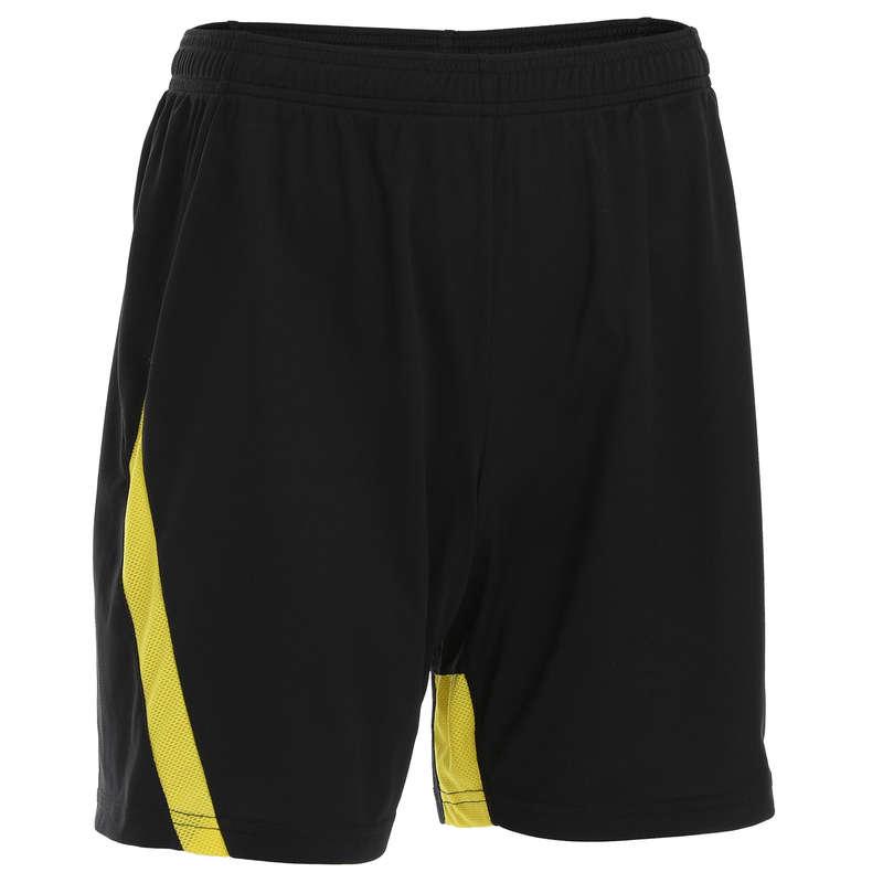 MEN'S INTERMEDIATE BADMINTON APPAREL - Shorts 530 M BLACK YELLOW PERFLY