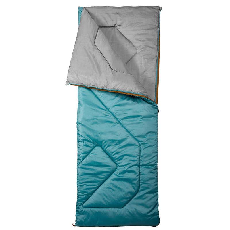 BASE CAMP SLEEPING BAGS Camping - SLEEPING BAG ARPENAZ 10°C- TURQUOISE QUECHUA - Sleeping Equipment