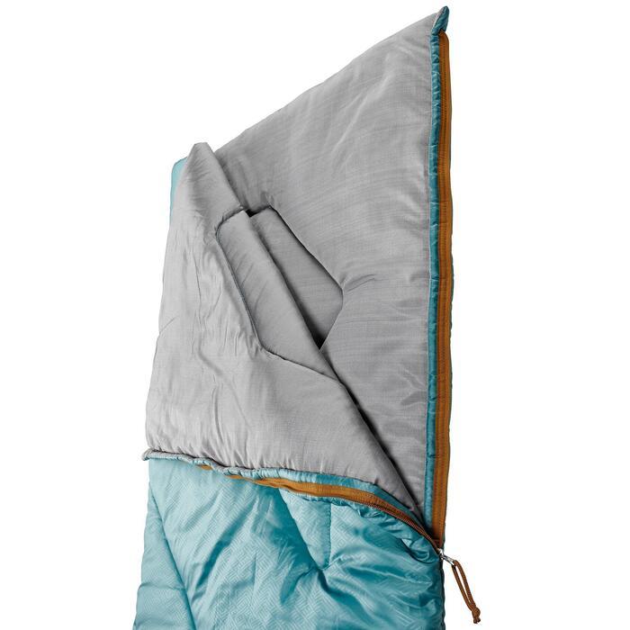 Schlafsack Camping Arpenaz 10°C hellblau