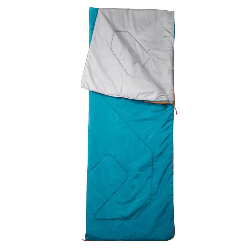 SPACÍ PYTLE NA TURISTIKU Kempování - Spací pytel Arpenaz 20° modrý QUECHUA - Vybavení na spaní