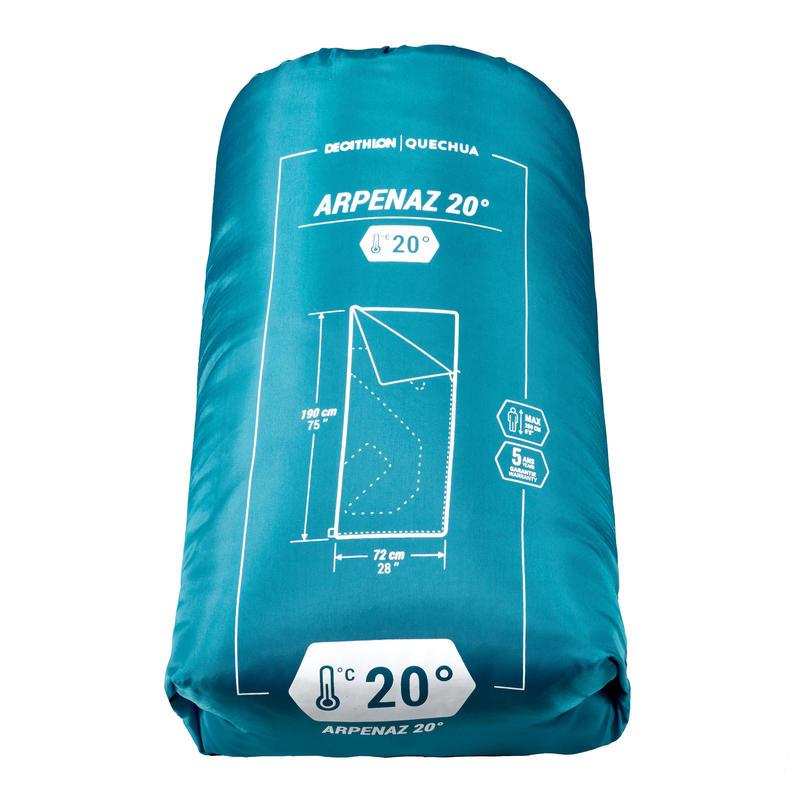 CAMPING SLEEPING BAG ARPENAZ 20°C