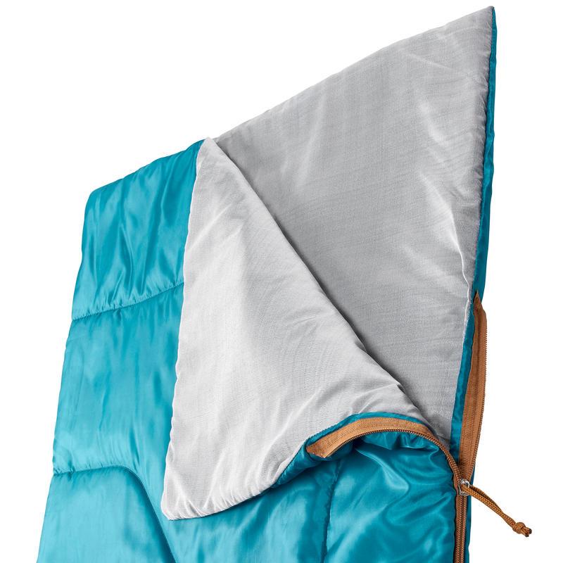 Saco De Dormir Verde 20ºC Con cierre Montaña/Camping Arpenaz