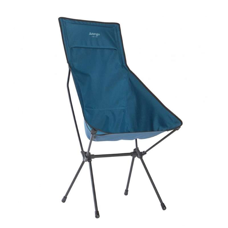 TOURING CAMP FURNITURE Camping - Micro Steel Tall Chair - Blue VANGO - Camping Furniture and Equipment