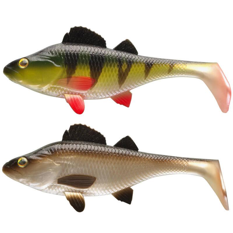 MĚKKÉ NÁSTRAHY NAD 10 CM Lov dravých ryb - SADA PERCH 170 PERCHE/NATUREL CAPERLAN - Nástrahy a bižuterie