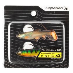 Gummifische Spinnfischen Shad Roach RTC 60 Plötze/Firetiger