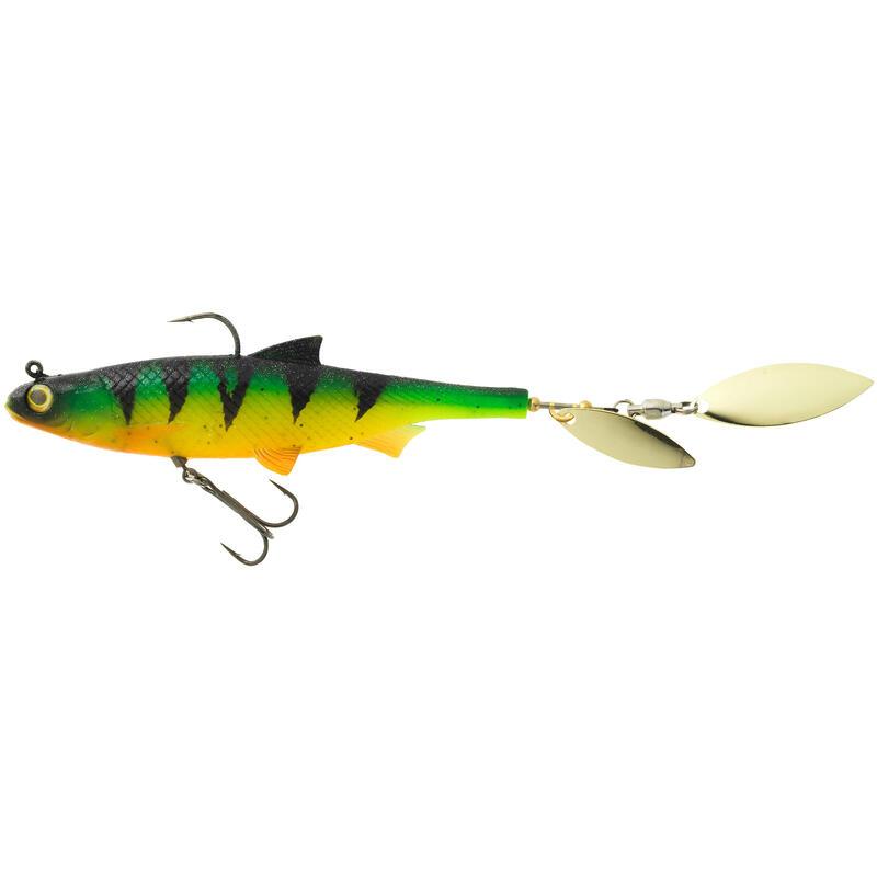 Twister SHAD cu paletă pescuit cu năluci ROACHSPIN 120 FIRETIGER
