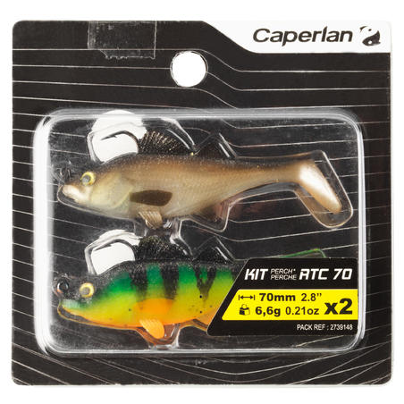 SOFT LURE KIT FISHING SHAD SOFT LURE FIRETIGER/NATURAL 70 RTC PERCH