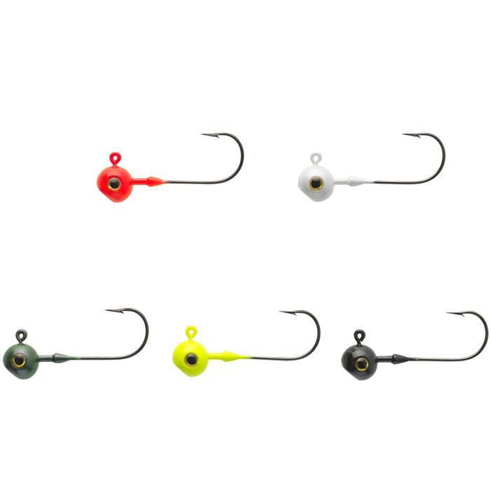 Cabeza plomada color pesca con señuelos TP RD COLO 10 G