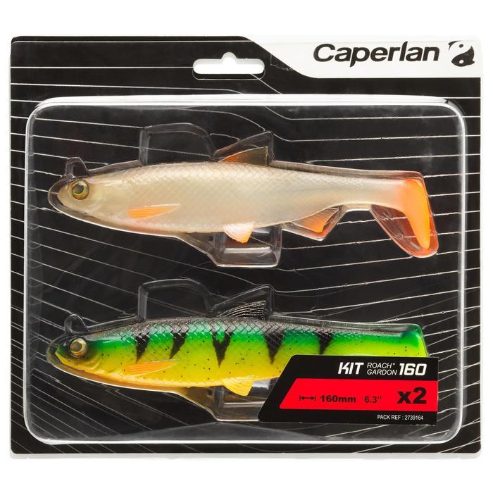 Softbait shad voor kunstaasvissen Set Roach 160 Voorn / Firetiger