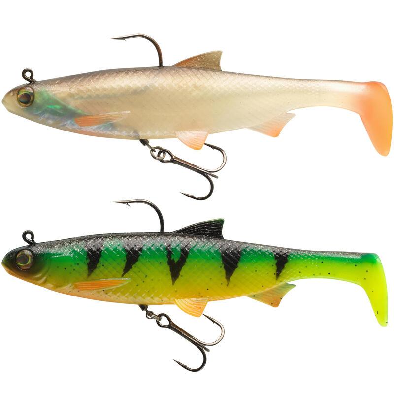 Softbait Shad vissen met kunstaas Set Roach RTC 160 Voorn / Firetiger