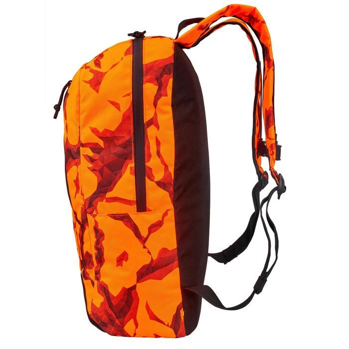 Mochila Caza Solognac 20 Litros 2.0 Camuflaje Naranja Fluo