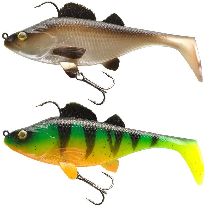 MĚKKÉ NÁSTRAHY DRAVÉ RYBY Lov dravých ryb - SADA PERCH RTC 130 NATUREL/FT CAPERLAN - Nástrahy a bižuterie