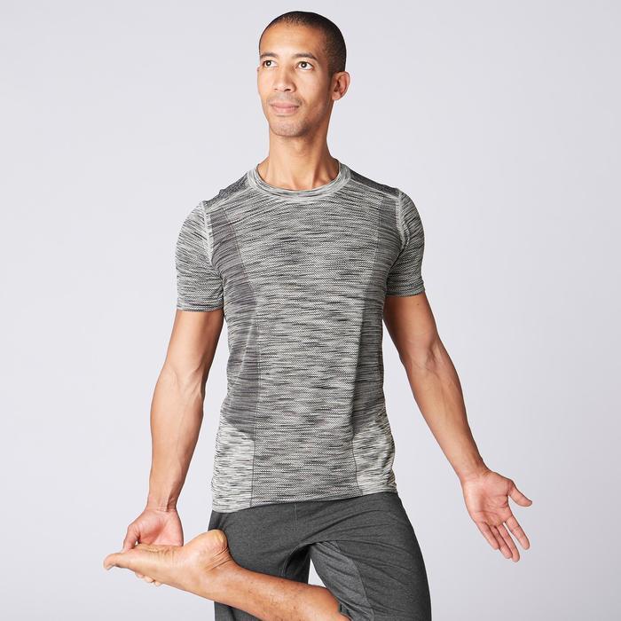 無縫短袖瑜珈T恤 - 雜米色