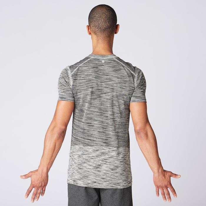 Seamless Short-Sleeved Yoga T-Shirt - Mottled Beige