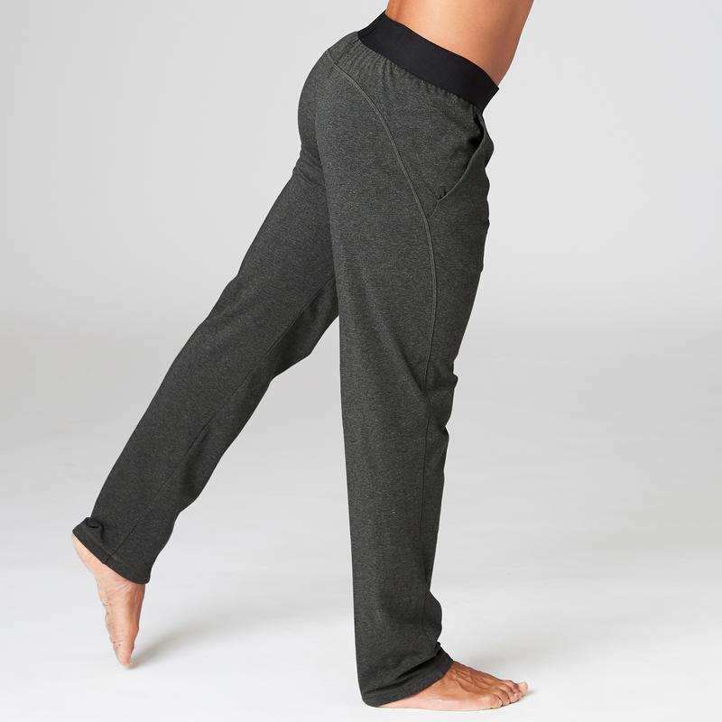 Organic Cotton Gentle Yoga Bottoms - Black