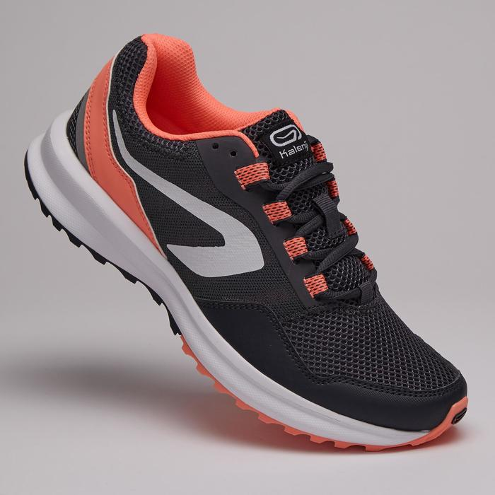 ACTIVE GRIP WOMEN'S RUNNING SHOES - GREY/CORAL