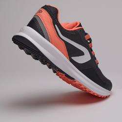 Hardloopschoenen voor dames Run Active Grip grijs/koraalrood