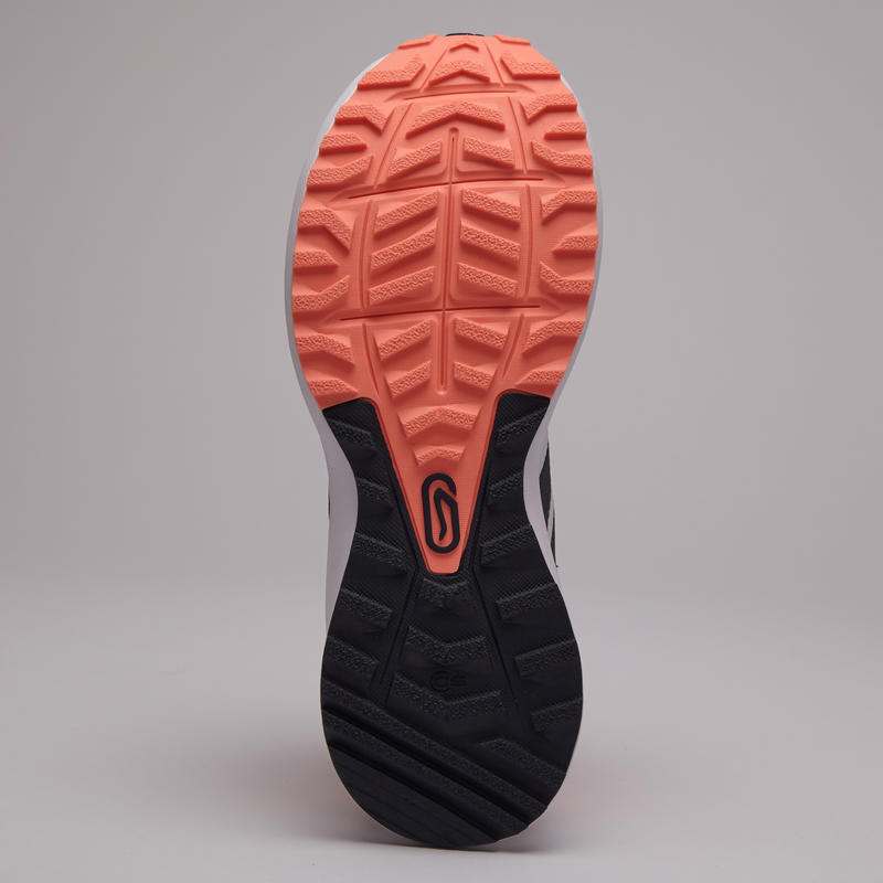รองเท้าวิ่งสำหรับผู้หญิงรุ่น ACTIVE GRIP (สีเทา/ส้ม CORAL)