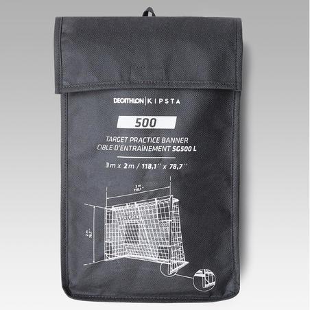 Bâche de précision de football pour SG 500 L et Basic goal taille L 3x2m grise