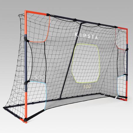 """Futbola mērķēšanas pārklājs """"SG 500"""" un pamata L izmēra vārtiem, 3x2m, pelēks"""