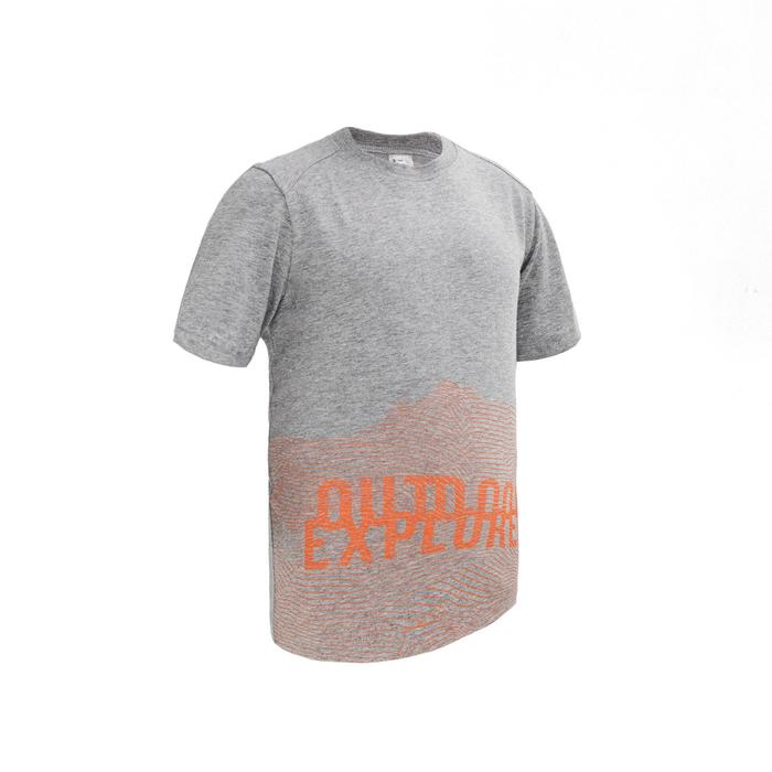 Children's Hiking T-shirt MH100 - Grey 7-15 YEARS