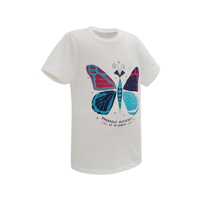 MH100 Children's Hiking T-shirt - White