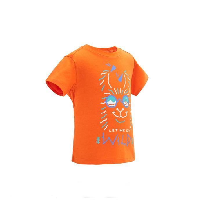 兒童款健行T恤MH100-橘色