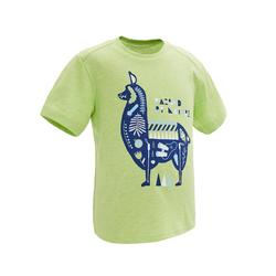Hiking t-shirt - MH100 green - Children age 2-6 YEARS